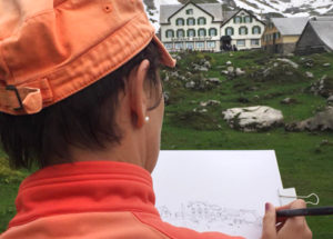 Sketchen im Alpstein, Meglisalp