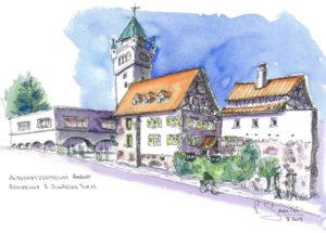 Altstadt in Arbon, Römerhof und Schädlerturm
