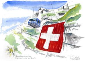 Nationalfeiertag am Säntis im Alpstein