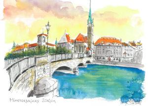 Münsterbrücke in Zürich